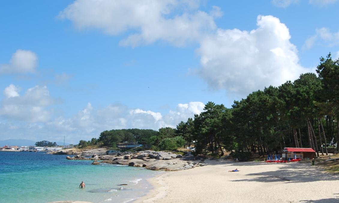 Imagen de la playa de area das Pipas en O grove